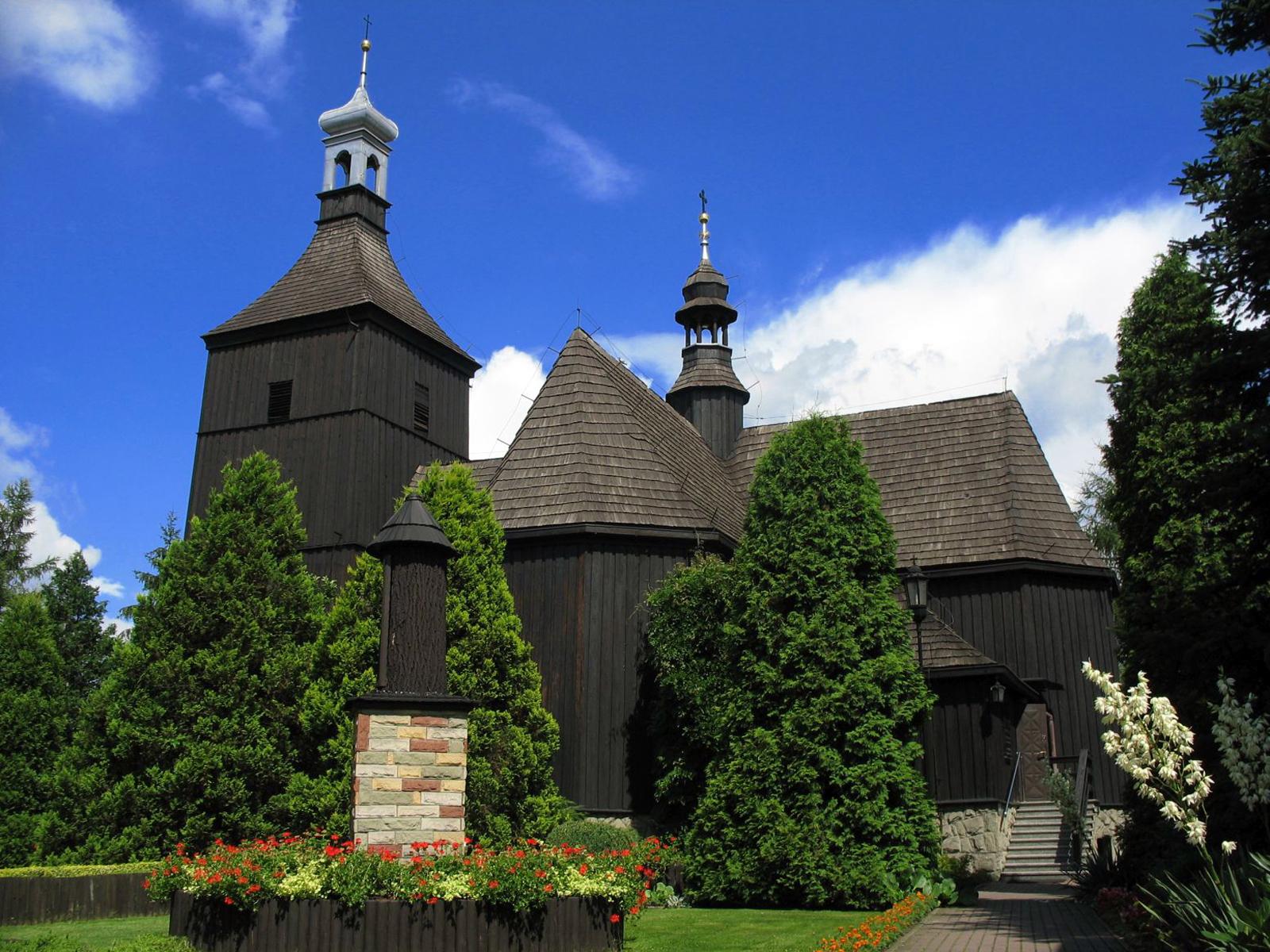 Rybnik Ligocka Kuźnia - kościół Św. Wawrzyńca z 1717 roku