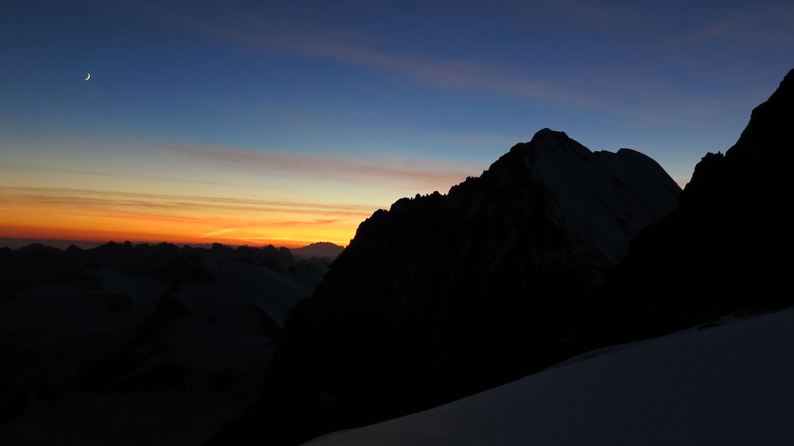 zachód słońca pod Piz Bernina