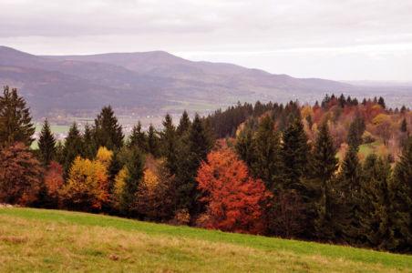 Beskid Śląsko-Morawski jesienią