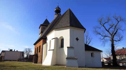 Gliwice Ostropa – kościół Św. Jerzego z 1640 roku
